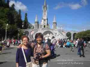 1. Mum & sis in Lourdes