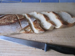 Sliced baguette - soft and fresh