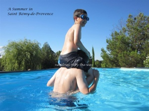 A Summer in Saint Rémy-de-Provence. The boys enjoying a dip in the pool - EVERYDAY!