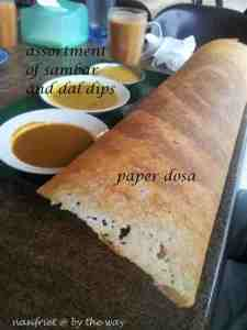 OMG!  One of my favourite rotis - the paper dosa and teh tarik!!!!!!