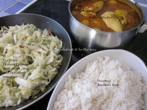 7c. Baba's curry_chix curry + basmati rice + chinese cabbage