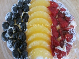 Black grapes, Yellow pineapple, Red Strawberries