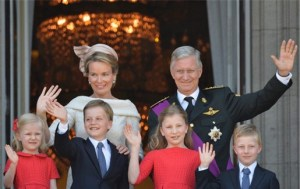 King Philip(pe)/ Filip of Belgium and his family
