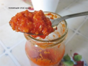 Homemade chilli sauce. Mmmmmm....YUMMY!