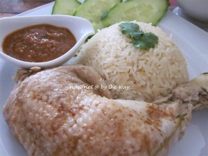 "My version of homemade "" Singapore""  Chicken Rice, made in Belgium :-D .  Gorgeous! Delish!"