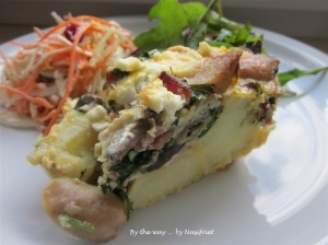 My wholesome slice of omelette with some salads for a balanced diet ;-)