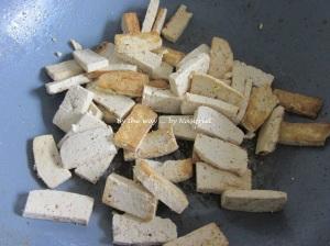 Next, the tofu