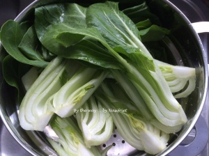 2. Steamed baby bok choy_quartered