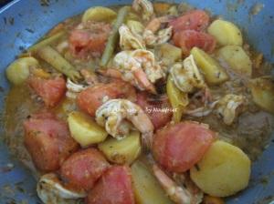 7. Fragrant prawn curry_sauté_prawns cooked