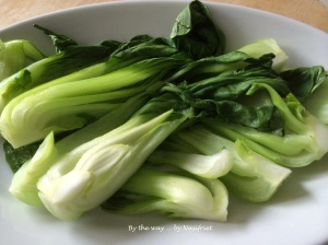 8. Steamed baby bok choy_arranged on plate