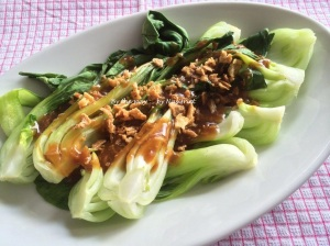 9. Steamed baby bok choy_platter1