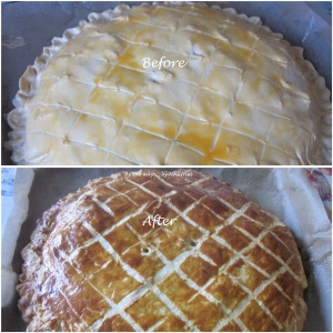 6. Chicken & Leek Pie_before n after baking